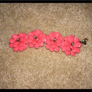 J crew bracelet coral flowers